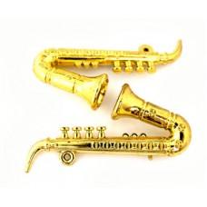 Саксофон КЛ.24654 пластик цв.золото 75мм уп.2шт.