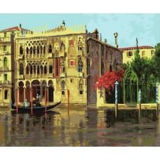 Набор Колор Кит картина по номерам КК.GX34217 Золотая Венеция 40х50