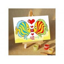 Раскраски по номерам Подводный поцелуй MA083 10х15 тм Цветной