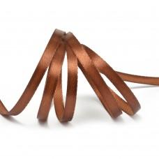 Лента атласная 1/4 (6мм) цв.3135 коричневый IDEAL уп.27,4 м