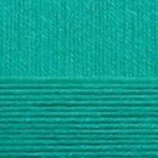 Пряжа для вязания ПЕХ Нежная (50% хлопок, 50% акрил) 5х50г/150м цв.581 св.изумруд