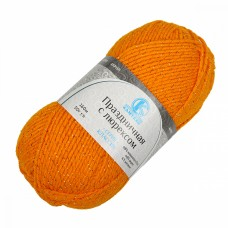 Пряжа для вязания КАМТ Праздничная (48% кашмилон, 48% акрил, 4% метанит) 10х50г/160м цв.103 канарейка