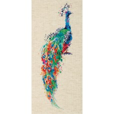 Набор для вышивания PANNA Золотая серия  PT-7238 Павлин 17х45 см