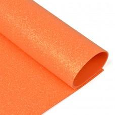 Фоамиран глиттерный Magic 4 Hobby 2 мм MG.GLIT.H046 цв.оранжевый, 20х30 см