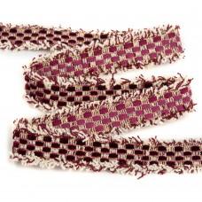 Тесьма Шанель TBY SH63 шир.25мм цв.бордовый уп.13,71м