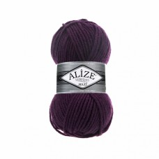 Пряжа для вязания Ализе Superlana maxi (25% шерсть, 75% акрил) 5х100г/100м цв.111 фиолетовый