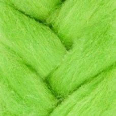 Шерсть для валяния КАМТ Лента для валяния (шерсть п/т 100%) 1х50г/2,1м цв.026 салатовый