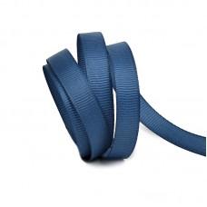 Лента Ideal репсовая в рубчик шир.10мм цв. 374 синий уп.27,42м