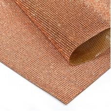 Стразы на листе клеевые MT-14-ROSE 1,5мм, 24х40 см цв.крас.золото