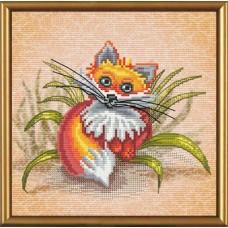 Наборы для вышивания мулине НОВА СЛОБОДА СВ 5556 Рыжик 18х18 см