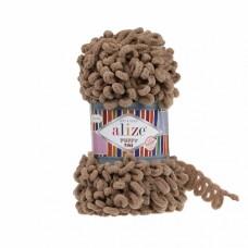 Пряжа для вязания Ализе Puffy Fine (100% микрополиэстер) 5х100г/14м цв.747 сушеная гвоздика