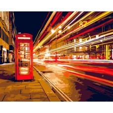 Картины по номерам на дереве Flamingo ФТ.FLA018 Ночной Лондон 40х50 см