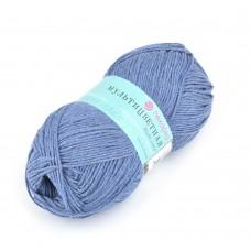 Пряжа для вязания ПЕХ Мультицветная (65% полиэстер, 35% хлопок) 5х50г/180м цв.255 джинсовый