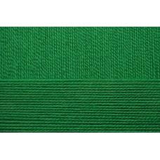 Пряжа для вязания ПЕХ Народная классика (30% шерсть, 70% акрил) 5х100г/400м цв.480 яр.зелень