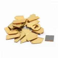 Акриловые стекла M1302 цв.Gold, уп.50шт