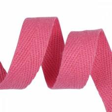 Тесьма киперная 15 мм хлопок 2,5г/см TBY.CT15337 цв.F337 яр.розовый уп.50м