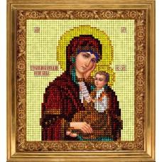 Набор для вышивания ювелирным бисером КРАСА И ТВОРЧЕСТВО 50114 Утоли моя печали икона 9,8х11 см