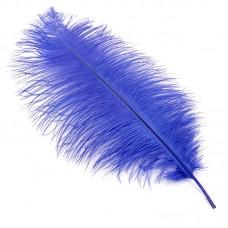 Перо страуса S-400-10 40-45 см цв.синий