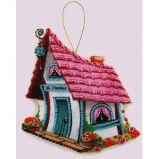 Наборы для вышивания декоративных игрушек BUTTERFLY  F120 Домик счастья 12x11см