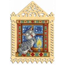 Набор для вышивания Щепка О-001 Зимний вечер 19х14/11х10 см