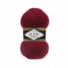 Пряжа для вязания Ализе LanaGold (49% шерсть, 51% акрил) 5х100г/240м цв.390 вишня