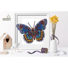 Набор для вышивки бисером 3-D БЛАГОВЕСТ Б-024 Бабочка Limenitis Astyanax 13,5х10 см