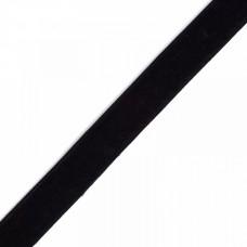 Лента бархатная эластичная TBY.LB2003.EL нейлон шир.20мм цв.черный уп.20м