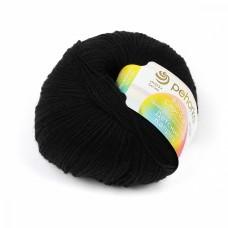 Пряжа для вязания ПЕХ Детский каприз (50% мериносовая шерсть, 50% фибра) 10х50г/225м цв.002 черный