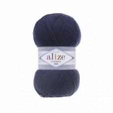 Пряжа для вязания Ализе LanaGold 800 (49% шерсть, 51% акрил) 5х100г/800м цв.058 т.синий
