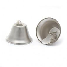 Колокольчик 38мм TBY.73801 цв.серебро уп.20шт