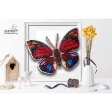 Набор для вышивки бисером 3-D БЛАГОВЕСТ Б-010 Бабочка Agrias Claudina Lugens 13,5х10 см
