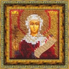 Рисунок на ткани Вышивальная мозаика  4070 Икона Св. Мученица Валерия (Калерия) 6,5х6,5 см