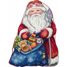 Набор для вышивания PANNA  PD-7186 Подушка Дед Мороз 35х45 см