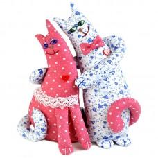 Набор для изготовления текстильной игрушки ПЛ-402 Влюблённые коты 26 см