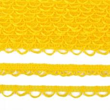 Тесьма отделочная UU цв.109 желтый шир.18-19мм уп.16,45м