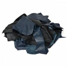 Лоскут из натуральной кожи толщ.0,5-2мм. ЛС-01 цв.черный