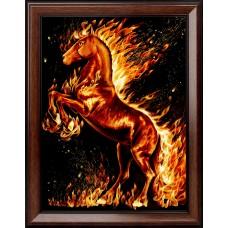 Набор для изготовления картин АЛМАЗНАЯ ЖИВОПИСЬ АЖ.1850 «Огненный конь» 30х40 см