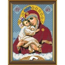 Рисунок на ткани бисер НОВА СЛОБОДА МАХ.БИС-А4-9026  Богородица Почаевская 19x27 см