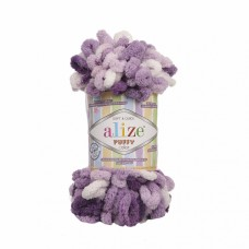 Пряжа для вязания Ализе Puffy color (100% микрополиэстер) 5х100г/9м цв.5923