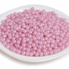 Бусины MAGIC 4 HOBBY круглые перламутр 4мм цв.015 розовый уп.50г (1500шт)