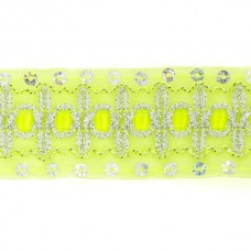 Тесьма с пайетками TBY TH182 шир.38мм цв.057 салатовый уп.18,28м