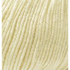 Пряжа для вязания Ализе Baby Wool (20% бамбук, 40% шерсть, 40% акрил) 10х50г/175м цв.001 кремовый