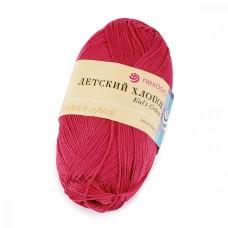 Пряжа для вязания ПЕХ Детский Хлопок (100% Мерсеризированный хлопок) 5х100г/330м цв.439 малиновый
