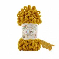 Пряжа для вязания Ализе Puffy (100% микрополиэстер) 5х100г/9.5м цв.002 жёлтый