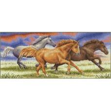Набор для вышивания PANNA Золотая серия Ж-0679 Бегущие от грозы 44,5 x 19,5 см