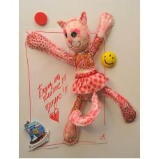 Набор для изготовления текстильной игрушки с магнитами в стиле пэчворк ПМ-802 Кошечка 30,5см