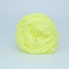 Шерсть для валяния ТРО Гребенная лента (100% нейлон) 50г цв.0027 лимон