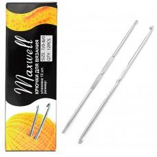Крючки для вязания  ТВ-СН-01  Maxwell  №7/0-8/0  двусторон. цв.никель  упак.12шт.