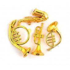 Набор музыкальных инструментов Magic 4 Toys 101 пластик цв.золото 40х70мм уп.4шт.