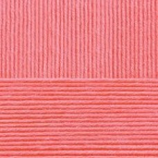 Пряжа для вязания ПЕХ Нежная (50% хлопок, 50% акрил) 5х50г/150м цв.058 коралл